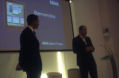 Alfonso Gómez, Director del BBVA Banca Privada para España y Portugal; Luis Uguina, Director de Canales Tecnológicos y Movilidad