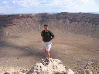 Posing in front of Meteor Crater
