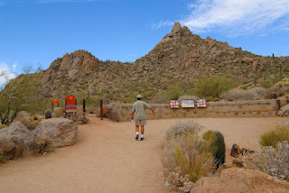 The trailhead for the Pinnacle Peak trail