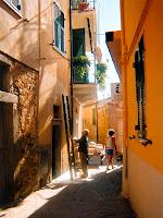 Street scene in Campiglia, Italy