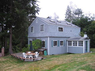 The back of the Lichty Kriesberg residence on Whidbey Island