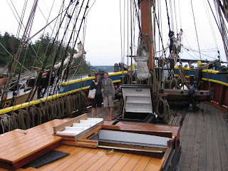 Susan and Kirsten aboard The Lady Washington at Coupeville Wharf