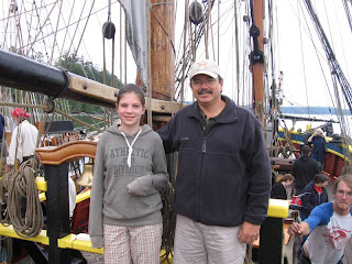 On the poop deck of The Lady Washington at Coupeville Wharf