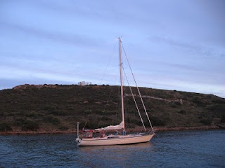 The Odyssey: Quetzal anchored at Cape Sounion