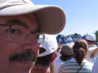 John Lichty at the Barack Obama rally in Grand Junction on September 15, 2008