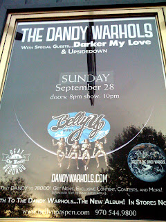 Poster for the Dandy Warhols at the Belly Up in Aspen