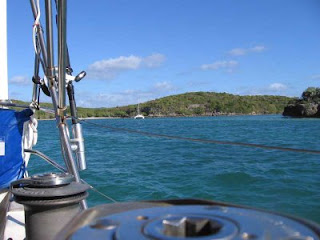 Our lumpy mooring at the mouth of Bahia Mosquito on Vieques