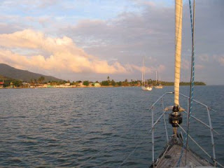 Our anchorage near Playita on the southern coast of Puerto Rico