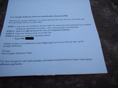 surat kode PIN adsense