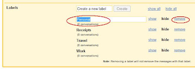 To rename or delete labels in Gmail