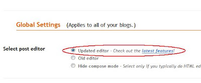 How to activate new post editor in Blogger