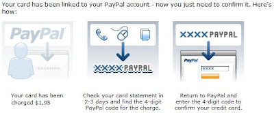 how to verify your credit card to Paypal