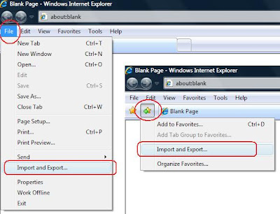 Import and Export Favorites in Internet Explorer