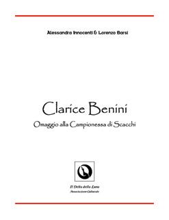 [ Alessandra Innocenti & Lorenzo Barsi :: Clarice Benini Omaggio alla Campionessa di Scacchi :: Il Delta della Luna ]