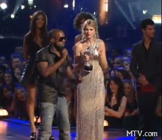 kanye west taylor swift mtv vmas 2009