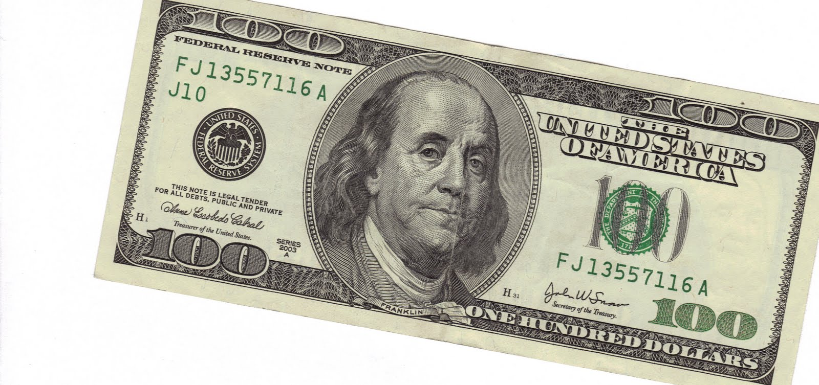 It is a photo of Zany Free Printable 100 Dollar Bill