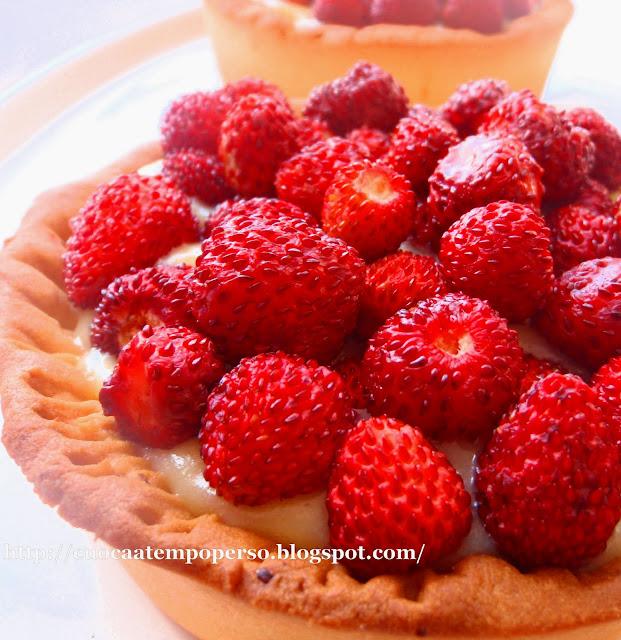 ricetta tortine fragoline di bosco con crema al limone
