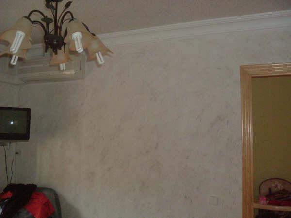 Grbpintacris revestimiento osaka textil en techo y - Pintura decorativa paredes ...