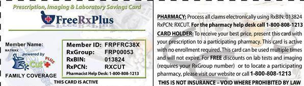 Free Prescription Drug Card 50-75% off Free