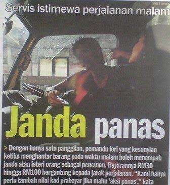 bayaran antara RM30 dan RM100, segelintir wanita berstatus janda