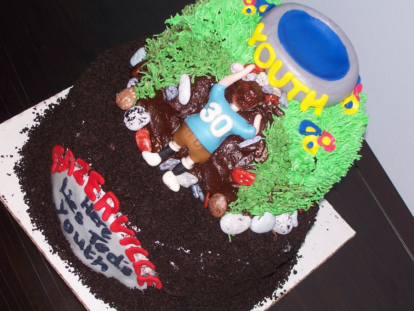 Sweet baby mason james humorous 30th birthday cake for 30th birthday cake decoration