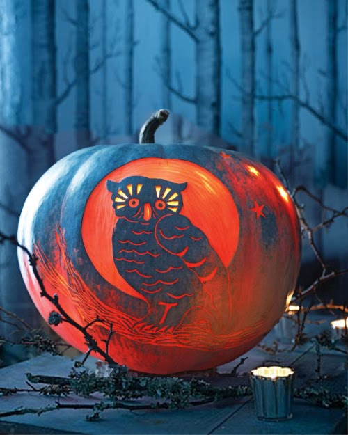 My owl barn martha stewart night pumpkin