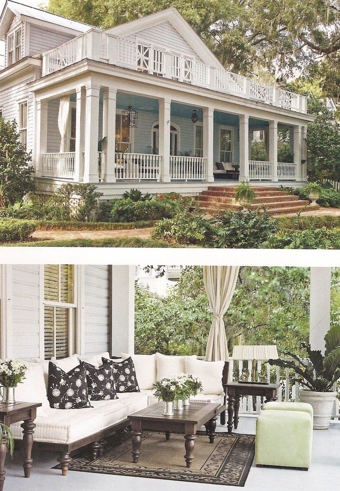 Acanthus and acorn paula deen 39 s savannah style - Porches de casas ...
