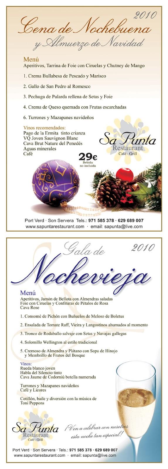 Men s de navidad y fin de a o en los restaurantes de - Menus para fin de ano ...