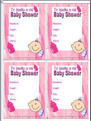 Anamar Invitaciones: Plantilla Invitacion para Baby Shower