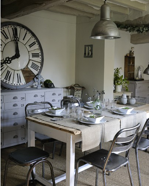 Modern country style best soft industrial home in the for Deco shabby chic pas cher