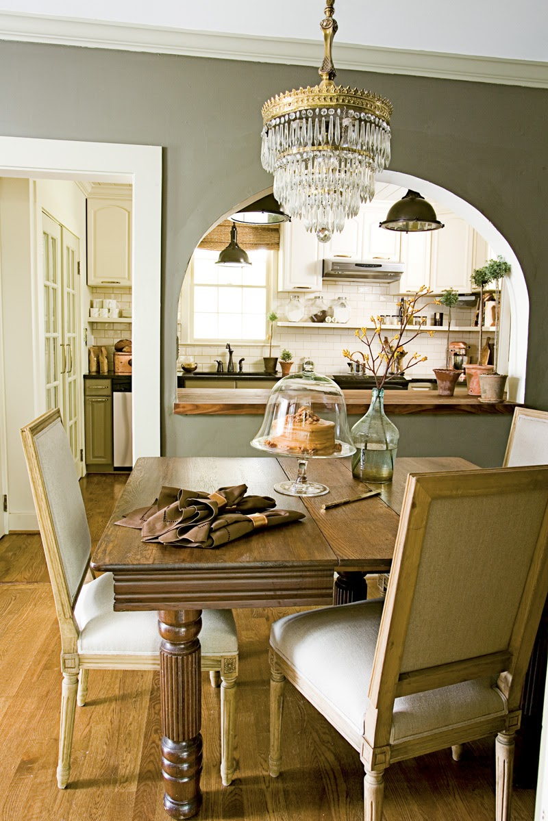 Modern country style anne turner 39 s cottage living kitchen for Dining room kitchen paint colors