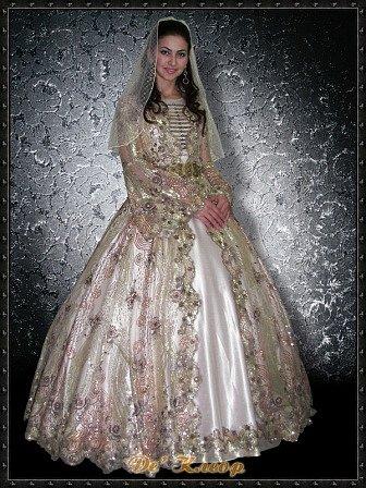 Национальный чеченский свадебные платья
