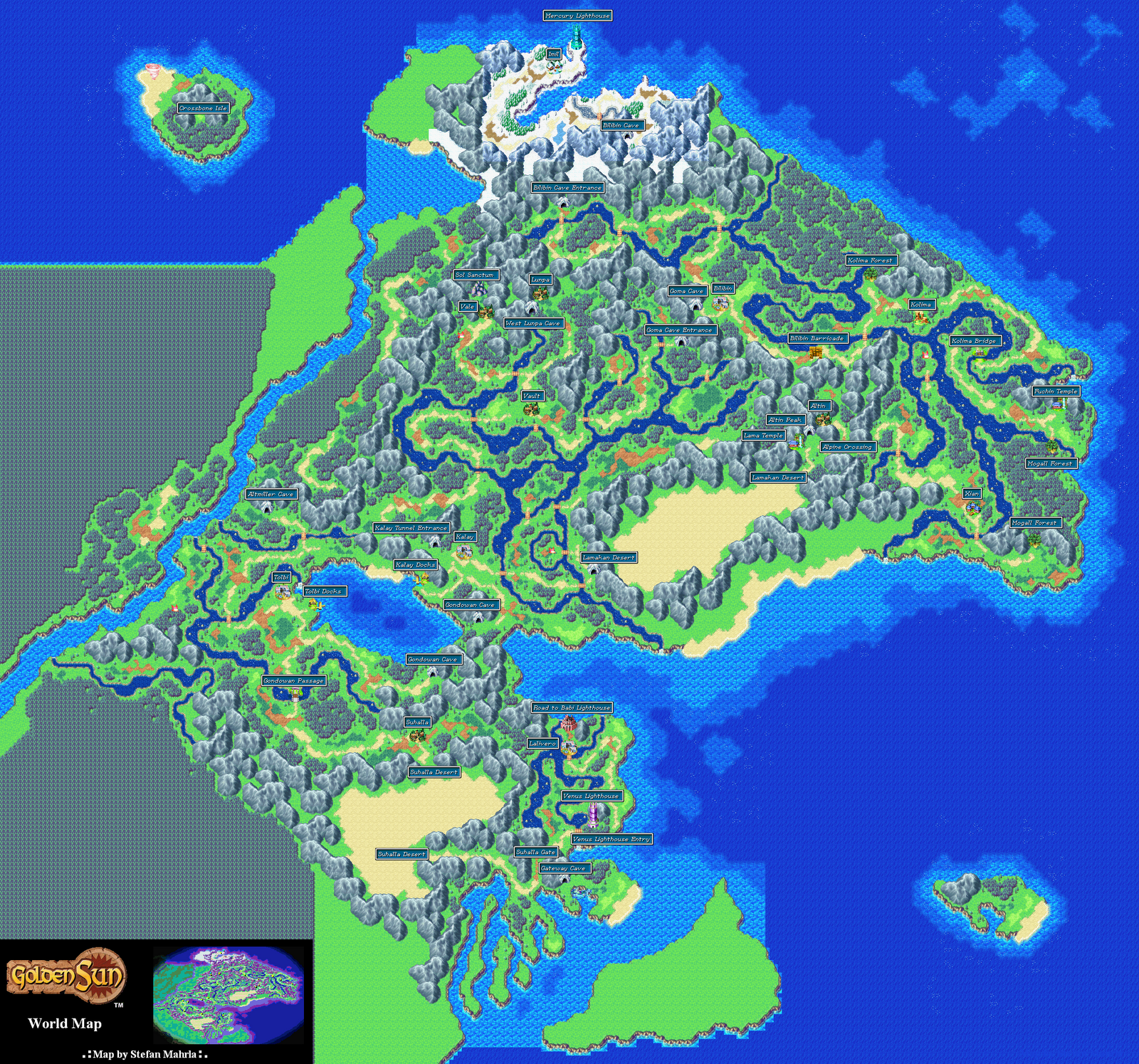 Angara Minecraft Project – Golden Sun World Map