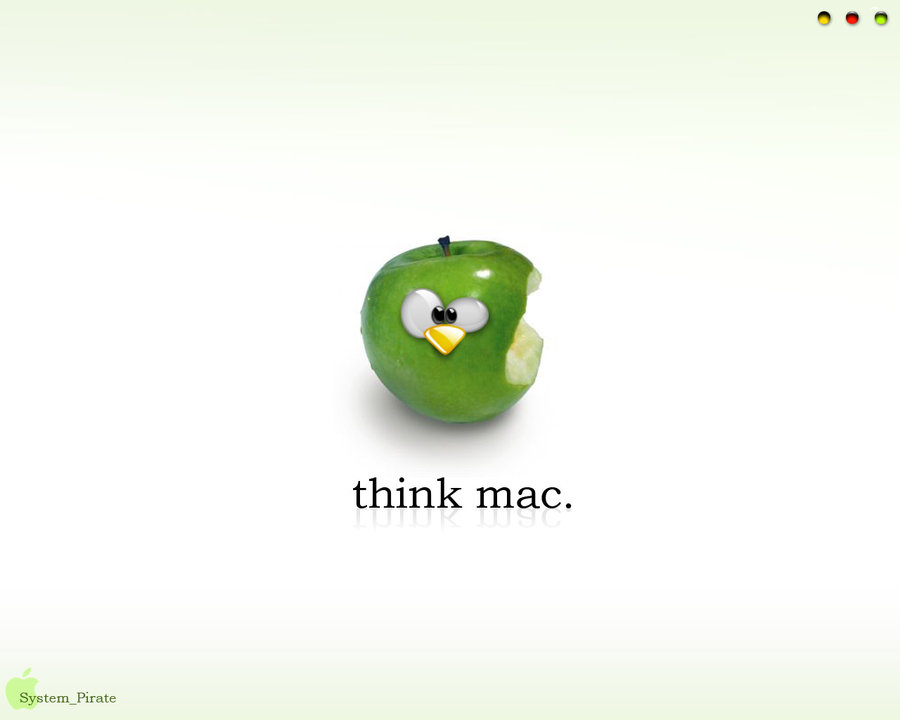 green apple think mac wallpaper