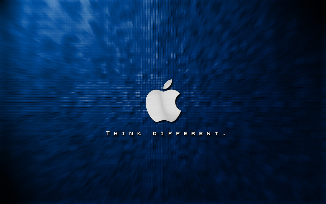 dark blue background apple logo wallpaper