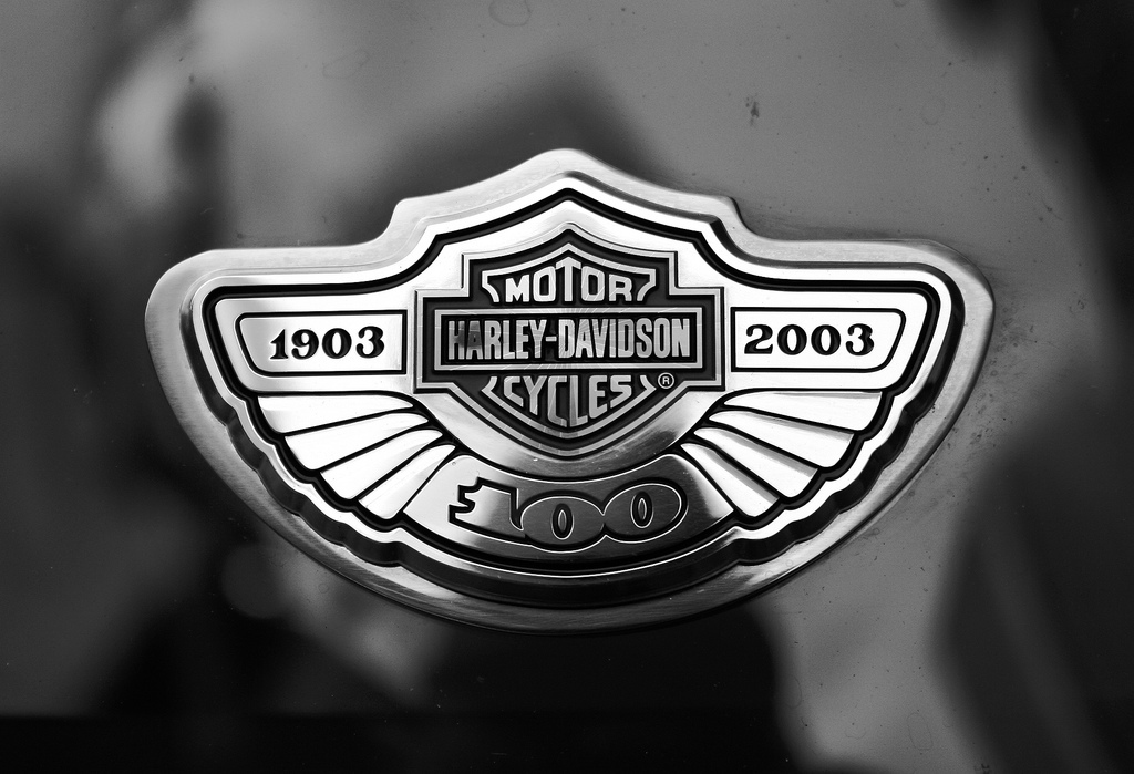 Harley Davidson Logo embedded on tank