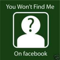 Anti Facebook shirt quote