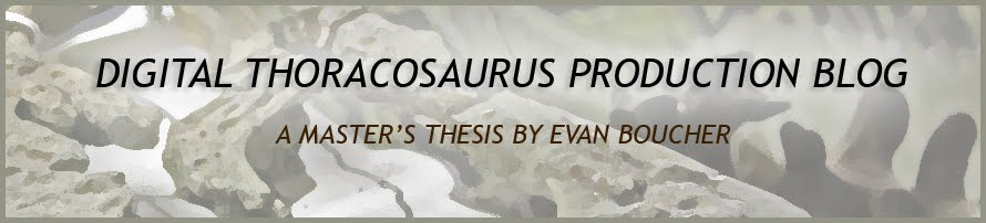 Digital Thoracosaurus Production Blog