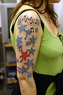 sleeve tattoo star