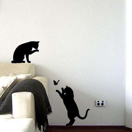 Dibujo para la pared imagui - Vinilos decorativos gatos ...