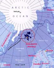 SVALBARD LOCATOR MAP