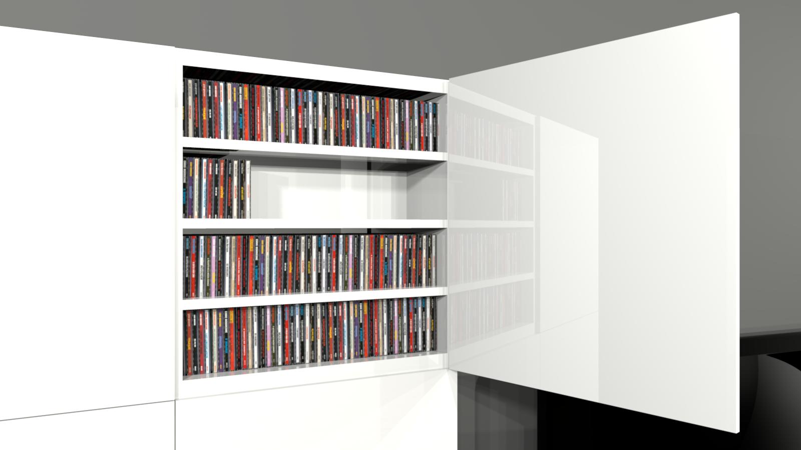Meuble rangement dvd for Meuble rangement cd dvd bois
