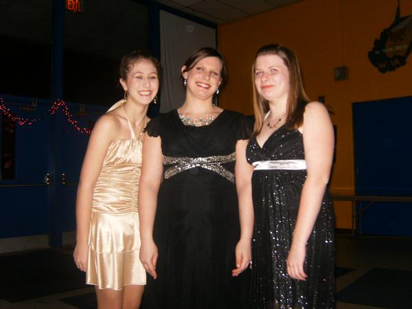 Skylar at the dance with friends