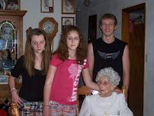 Grandma with Lexi, Skylar & Ryan
