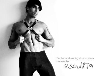 gay male harness custom made fashion shoot jewelry muscle stud alexy tyler