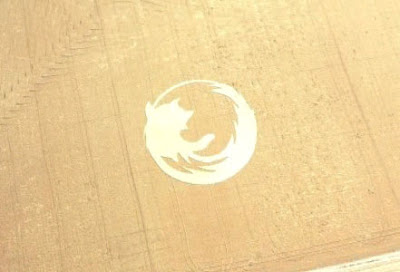 Firefox logo in crop circle