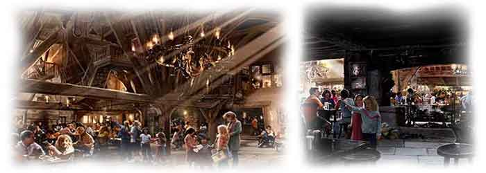 The Three Broomsticks and the Hog's Head