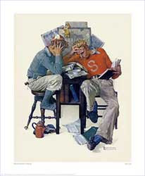 Cramming by Norman Rockwell (1931)