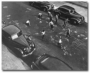 Chalkgames, NY 1950, A. Leipzig