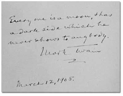 Twain's quotation